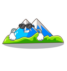 Super cool miniature mountain in the character vector