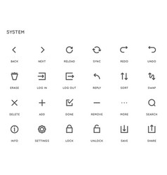 System user interface ui icon set high quality vector