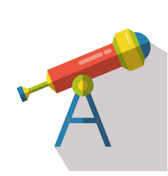 telescope icon isolated astronomy discovery flat vector image