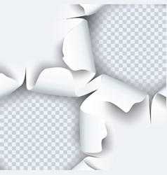 Torn paper with ripped edges and shadow graphic vector
