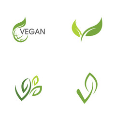 Vegan icon vector