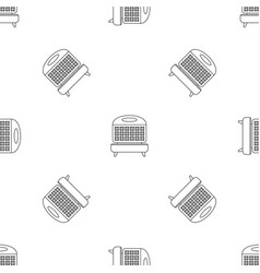 Waffle cooker pattern seamless vector