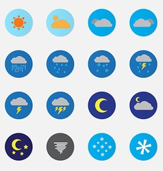 Weather icon sets color vector