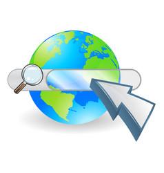 Web globe seach bar concept vector