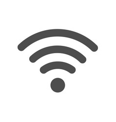 wi-fi icon flat vector image