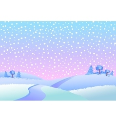 Winter landscape in day vector image