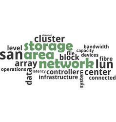 Word cloud - storage area network vector
