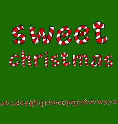 wrapped in a ribbon alphabet set lowercase vector image