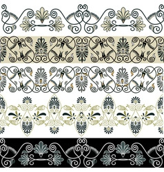 greec patterns vector image vector image