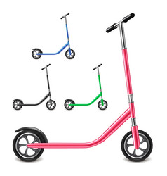 kick scooter isolated on white vector image