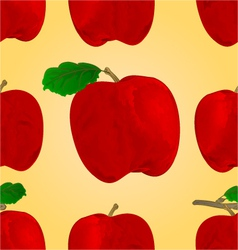 Seamless texture red apple fruit healthy lifestyle vector image vector image