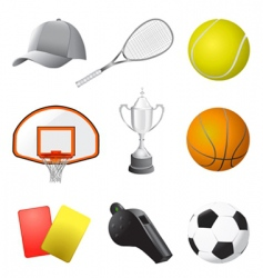 sport items vector image vector image