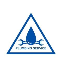 symbol of plumbing service vector image vector image