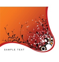 abstract grunge floral vector image