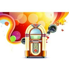 classic juke box vector image vector image
