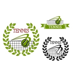 Green tennis sports game icon or symbol vector image