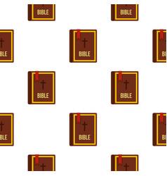 Bible book pattern flat vector