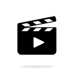 Clapper board open icon on white background vector image