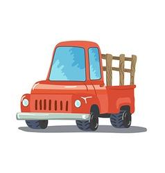 Colorful Cartoon Retro Pickup Truck vector image