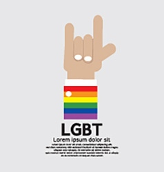 LGBT With Love Hand Sign vector image