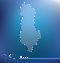 Map of Albania vector image