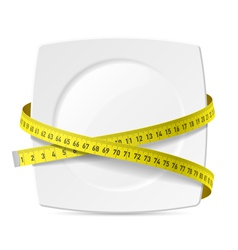 Plate with measuring tape vector image