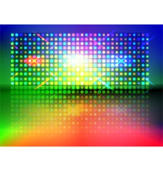 rgb light wall vector image vector image