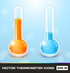 Thermometer Icons vector image vector image