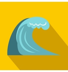 Big wave icon flat style vector image