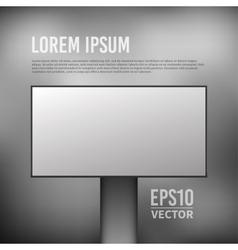 empty billboard template vector image