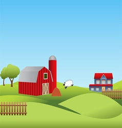 Farm and countryside vector image