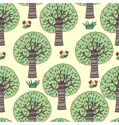 graphic with trees vector image