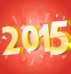 Happy new 2015 year banner with red ribbon vector image