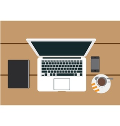 lap top mobile vector image vector image