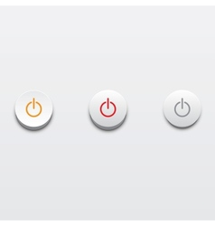 Power buttons ui element vector image vector image