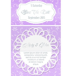 Save the date document template vector image vector image