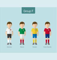 2018 soccer or football team uniform group f vector