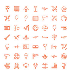 49 air icons vector image