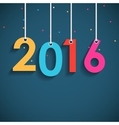 Abstract beauty 2016 new year background vector