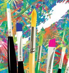 Artist brushes vector