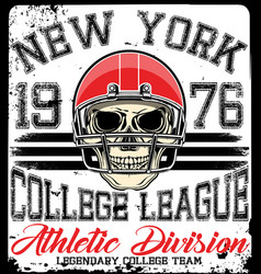athletic tee graphic vector image