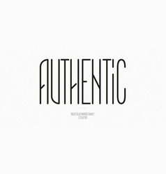 authentic font style vector image