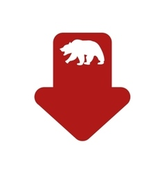 Bear infographic profit financial icon vector