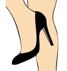 Black Shoe vector image