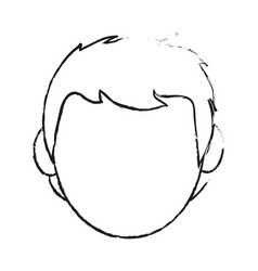 Blurred silhouette cartoon front view faceless vector
