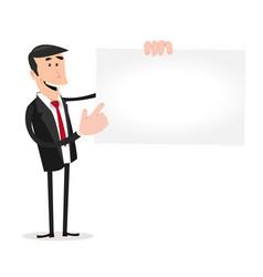 Businessman vcard vector