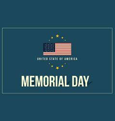 Collection stock of memorial day theme banner vector