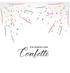 Confetti explosion party celebration background vector