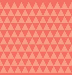 coral and peach triangles seamless pattern vector image