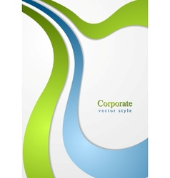 Corporate wavy background vector